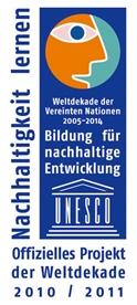 """Projekt der UNESCO-Dekade """"Bildung für nachhaltige Entwicklung"""""""