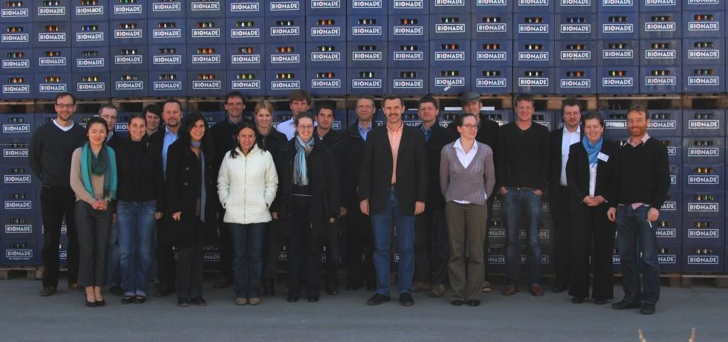 MBA Sustainability Management Workshop Bionade Gruppenfoto