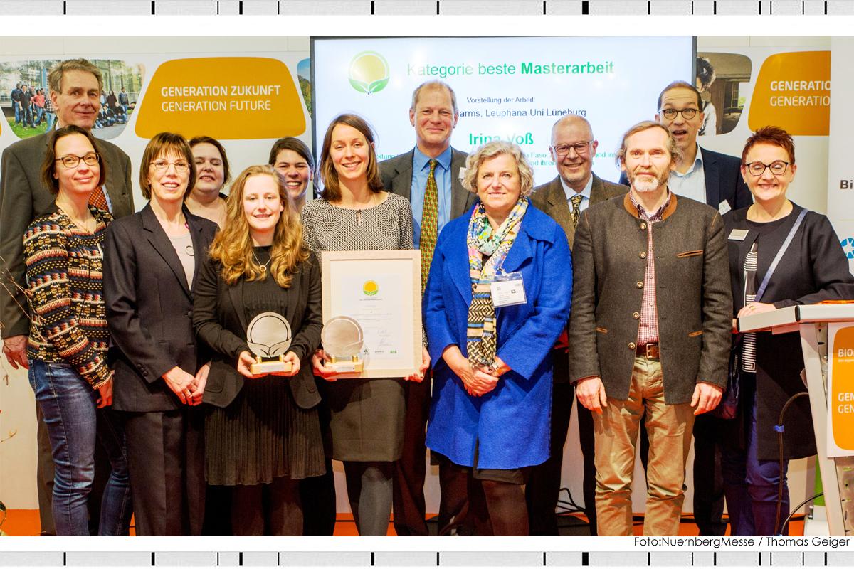 Preisverleihung für beste Masterarbeit / MBA Sustainability Management / Forschungspreis Biolebensmittel 2017