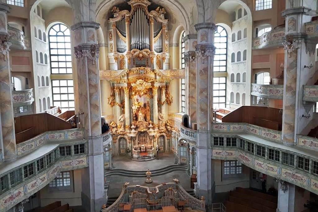 Die Dresdner Frauenkirche – im Rokoko-Stil wiederaufgebaut.