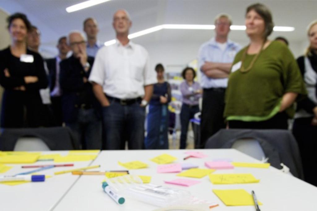 Teilnehmerinnen bei Veranstaltung des Projektes Nachhaltigkeitsinnovationen im regionalen Mittelstand (NIREM)