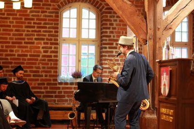 Musikalischer Beitrag zur Titelverleihung im Glockenhaus